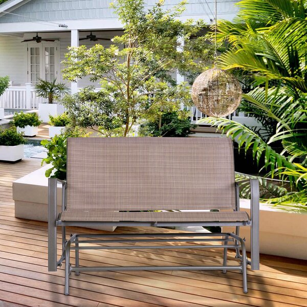 Courtois Outdoor Glider Bench by Fleur De Lis Living