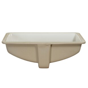 Reviews Vitreous China Rectangular Undermount Bathroom Sink with Overflow ByHazelwood Home