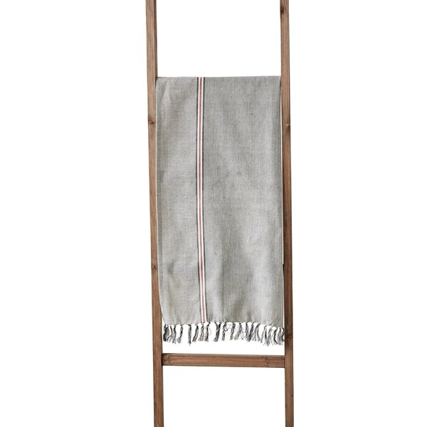 Meza Stripe Cotton Chambray Table Runner by Gracie Oaks