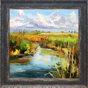 'Afternoon Skies' Framed Print by August Grove