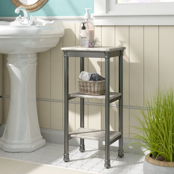 Nauman 13 W x 28 H Bathroom Shelf by Beachcrest Home