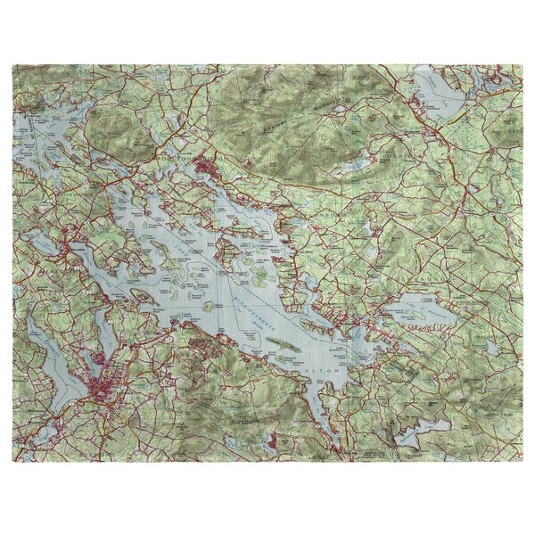 Lake Winnipesaukee, NH 18 Placemat (Set of 4) by East Urban Home