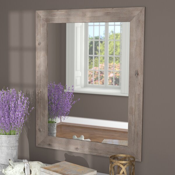 Glynis Rustic Wild West Barnwood Wall Mirror by Union Rustic