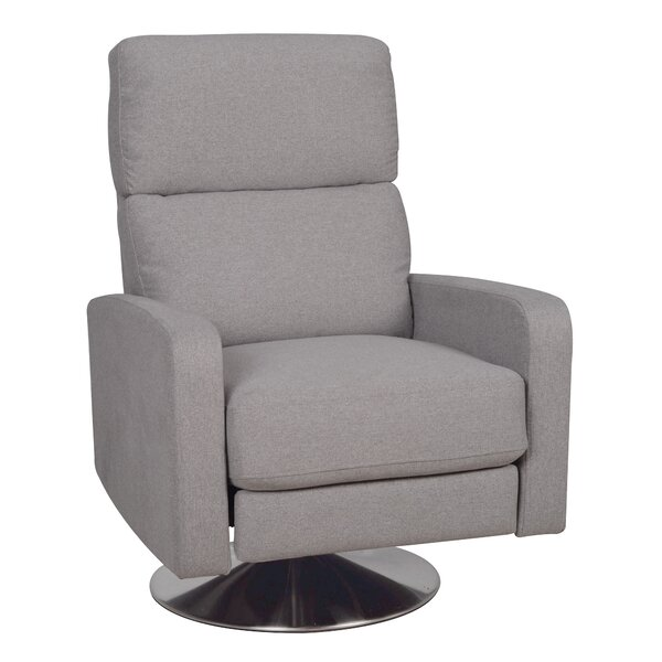 Roux Push Back Manual Swivel Recliner by Karla Dubois