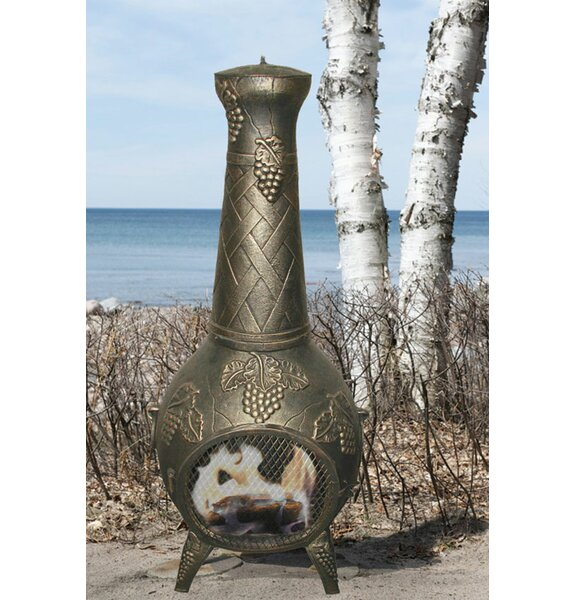 European Vineyard Aluminum Wood Burning Chiminea by Deeco