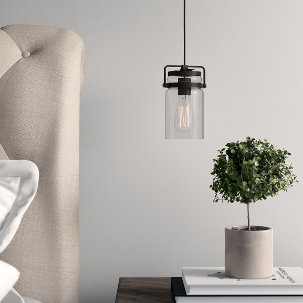 Sue 1-Light Cylinder Pendant by Greyleigh
