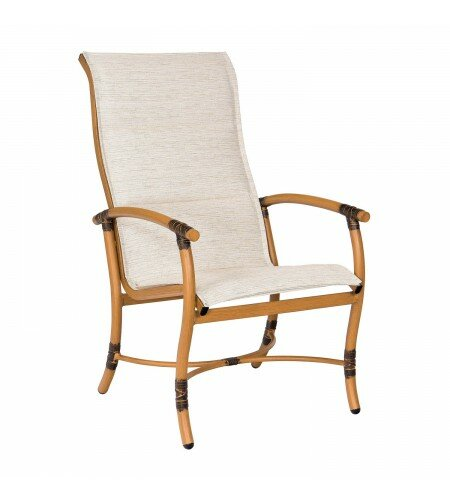 Glade Isle Sling High Back Patio Dining Chair by Woodard