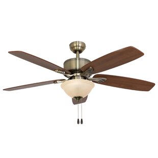Affordable 52 Northport Bowl Light 5-Blade Ceiling Fan By Calcutta