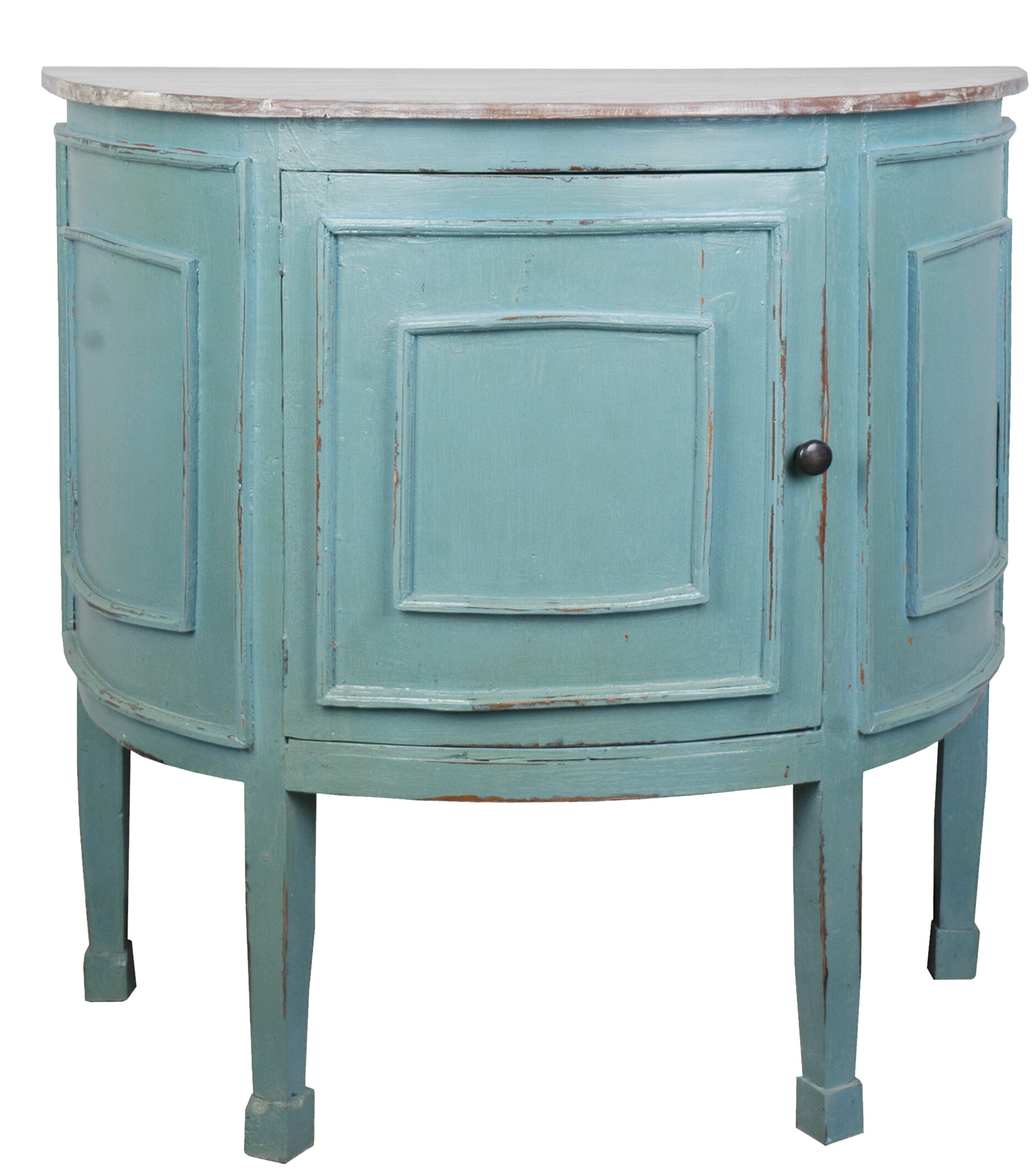 Wellfleet Half Round 1 Door Accent Cabinet