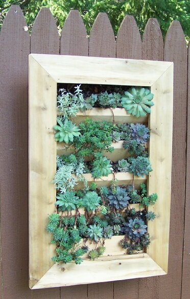 Wood Wall Planter by Bar Harbor Cedar