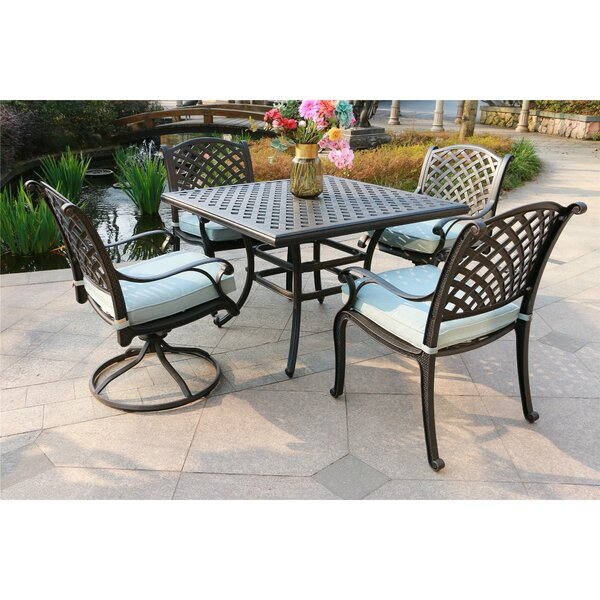 Kempf 5 Piece Dining Set with Cushions by Darby Home Co Darby Home Co