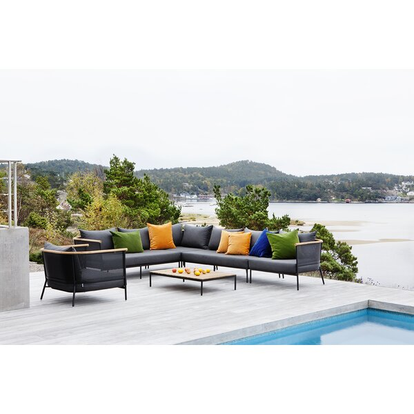 Riad Teak Patio Sectional With Cushions By OASIQ