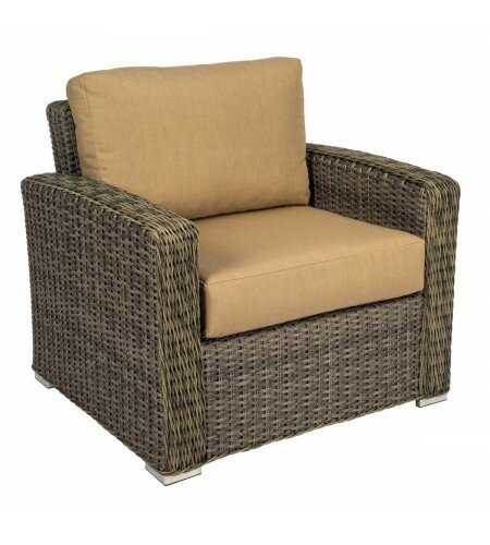 Bay Shore Patio Chair with Cushions by Woodard