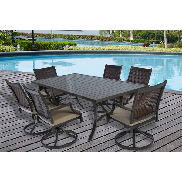Cordes 7 Piece Dining Set with Cushions by Darby Home Co