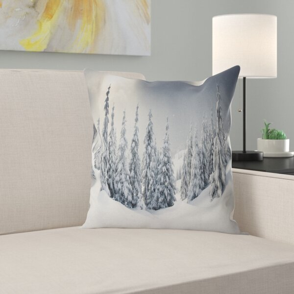 Photography Winter Landscape Pillow by East Urban Home