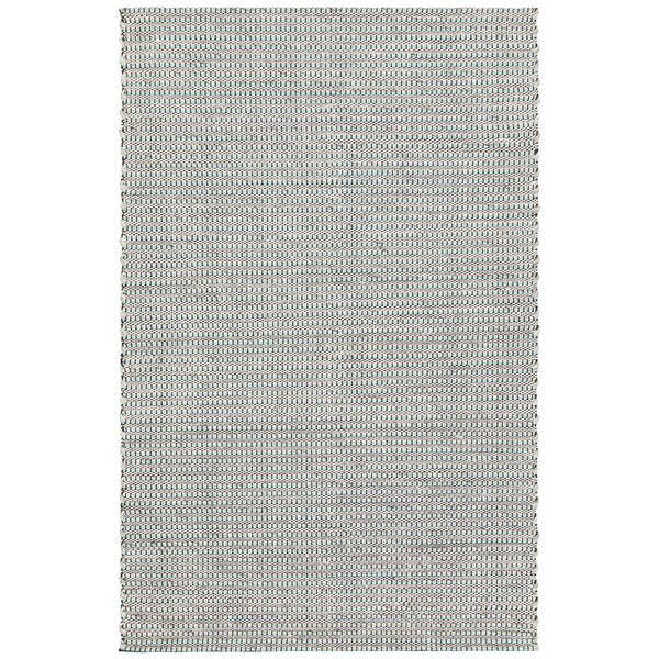 Werner Hand-Woven Teal/Black Area Rug by Gracie Oaks