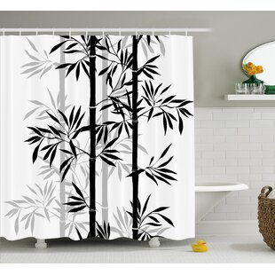 Shopping for Basil Bamboo Tree Leaves Zen Shower Curtain By Bloomsbury Market