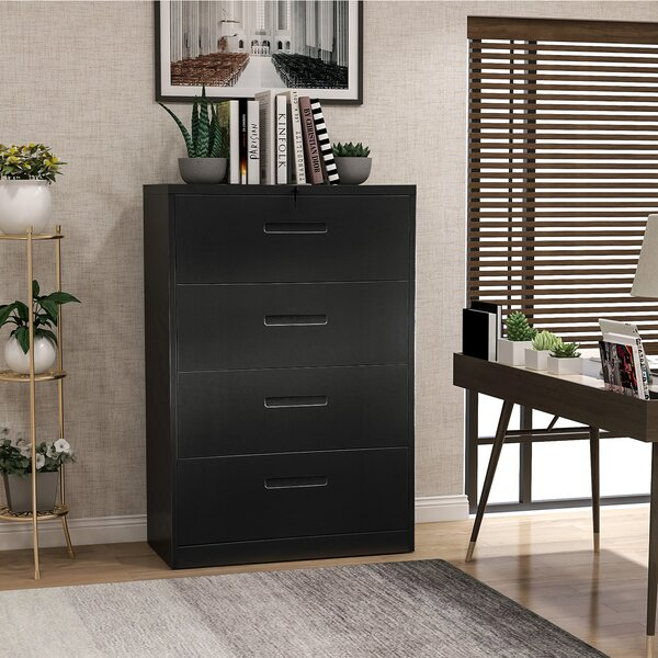 Metal 4-Drawer Vertical Filing Cabinet