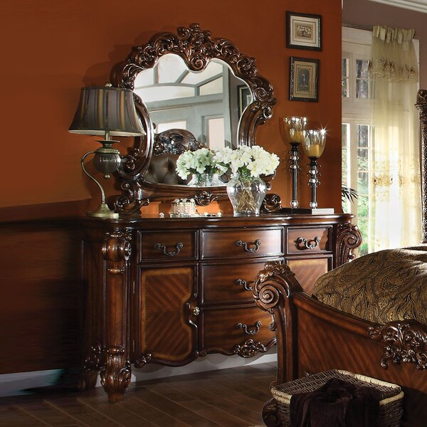Welles 5 Drawer Dresser with Mirror by Astoria Grand