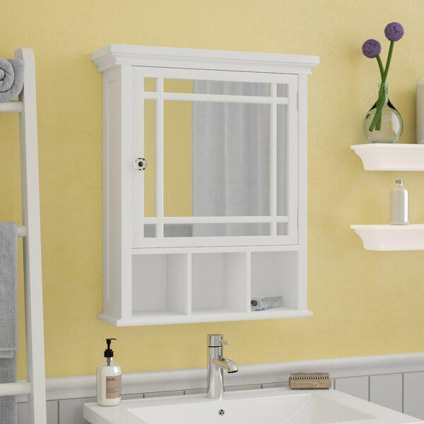 Taryn Surface Mount Framed 1 Door Medicine Cabinet with 1 Adjustable Shelf