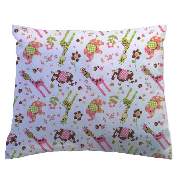 Elephants and Giraffes Pillowcase by Sheetworld