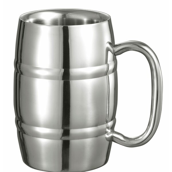 Big Cooper Beer Glass 13 oz. Stainless Steel by Visol Products