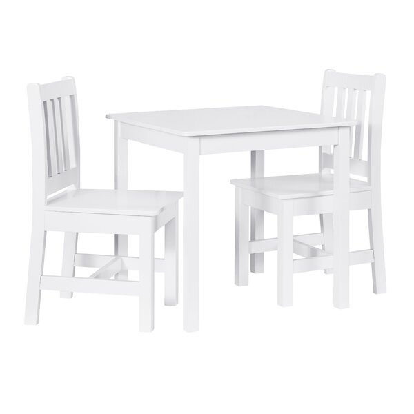 Hisle Kids 3 Piece Rectangular Table and Chair Set