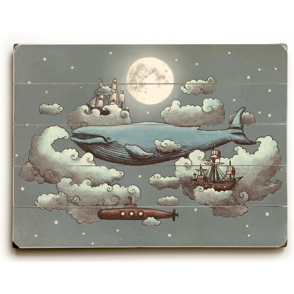 Ocean Meets Sky by Terry Fan Graphic Art on Plaque by Wrought Studio