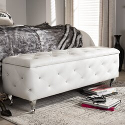 Wholesale Interiors Baxton Studio Seine Storage Ottoman & Reviews ...