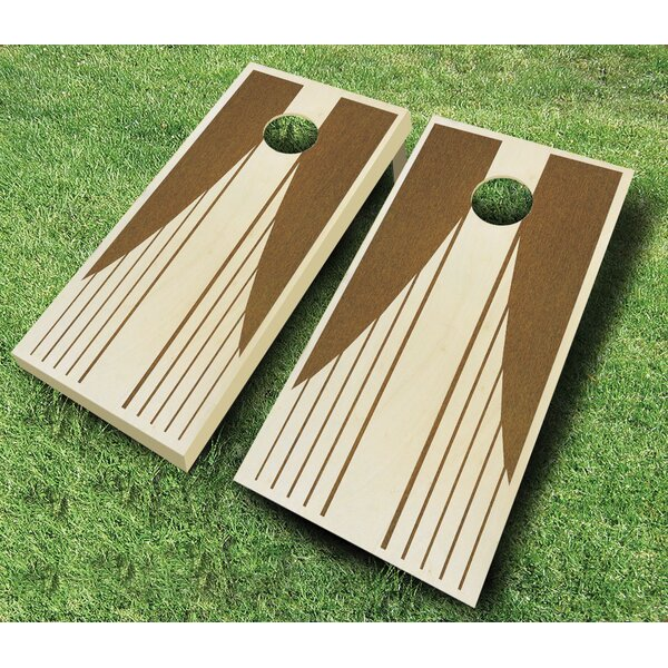 Swooping Stripes 10 Piece Cornhole Set by AJJ Cornhole