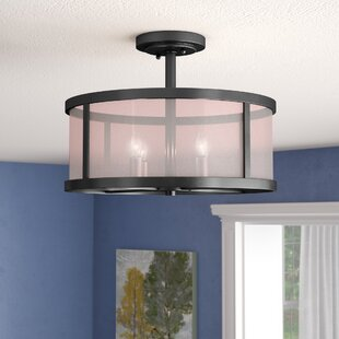 Low priced Elmer 4-Light Semi Flush Mount By Charlton Home