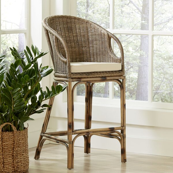 Augustine Rattan Bar Stool by Birch Lane™