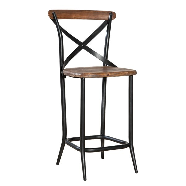 Metal Cross Patio Bar Stool by Furniture Classics