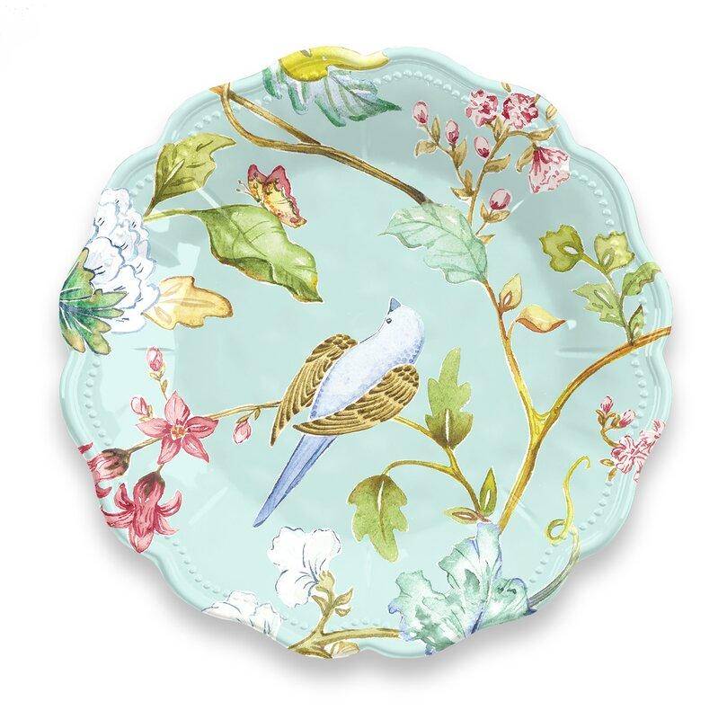 Lecroy Spring Chinoiserie 12 Piece Melamine Dinnerware Set Service for 4  sc 1 st  Wayfair & Ophelia \u0026 Co. Lecroy Spring Chinoiserie 12 Piece Melamine Dinnerware ...