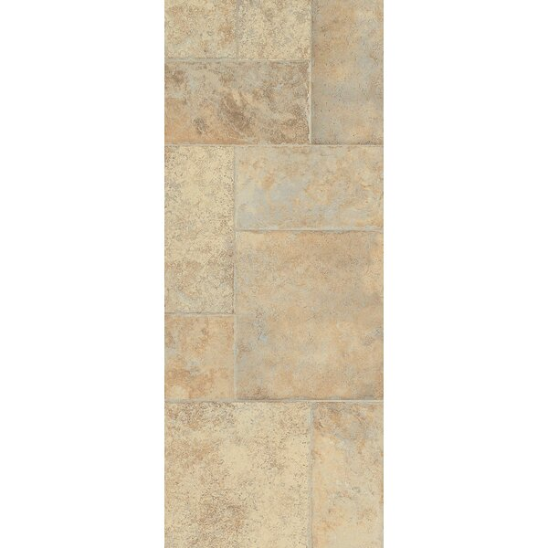 Stones and Ceramics 15.94 x 47.75 x 8.3mm Tile Laminate Flooring in Weathered Way Antique Cream by Armstrong Flooring