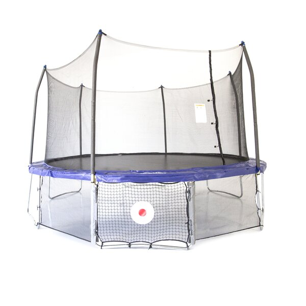 Kickback Game 17' Oval trampoline with Safety En