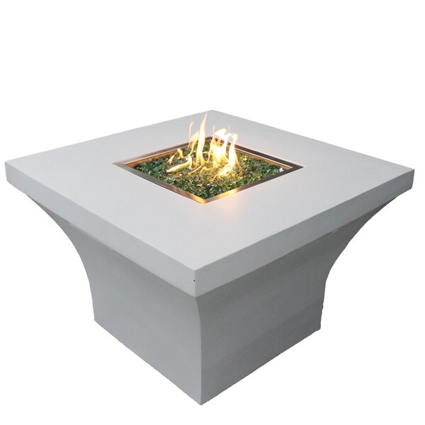 Concrete Propane Fire Pit Table by New Spring Patio
