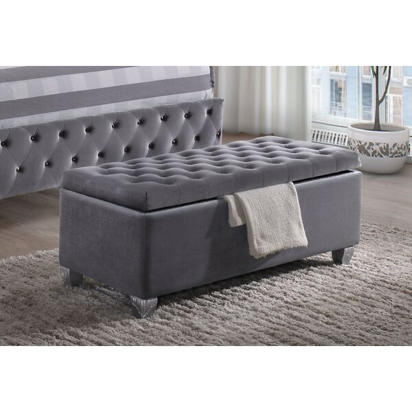 Schlemmer Upholstered Flip Top Storage Bench