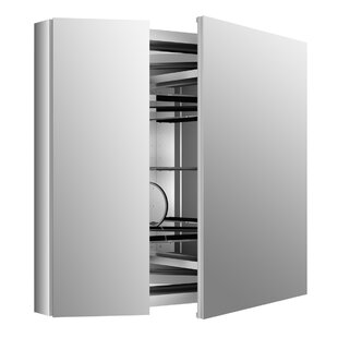 Find for Verdera Aluminum Medicine Cabinet with Adjustable Flip Out Flat Mirror, 34 W x 30 H By Kohler
