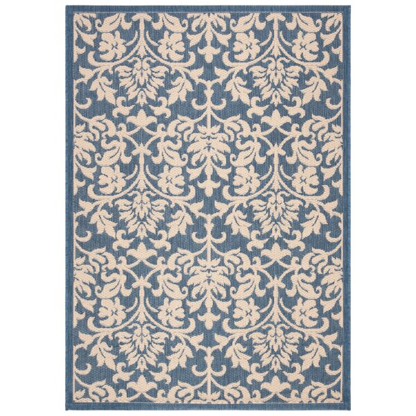 Bexton Blue/Natural Indoor/Outdoor Rug by Alcott Hill