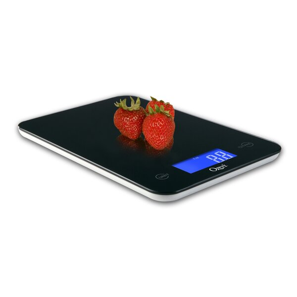 Touch Professional Digital Kitchen Scale (18 lbs Edition), Tempered Glass by Ozeri