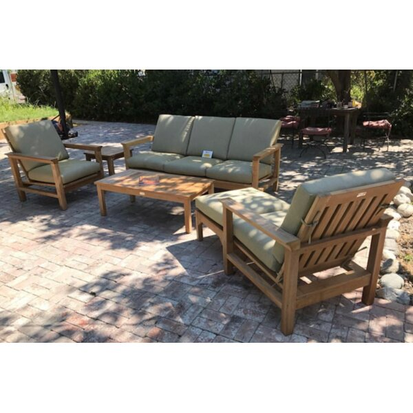 East Harptree Teak 6 Piece Sunbrella Sofa Set with Cushions by Bungalow Rose
