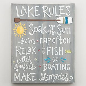 'Rules Montage' Textual Art on Canvas by Loon Peak