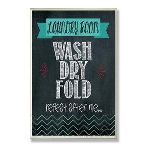 Wash Dry Fold Chalkboard-look Wall Plaque by Stupell Industries