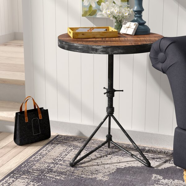 Fromberg Adjustable Round End Table By Laurel Foundry Modern Farmhouse