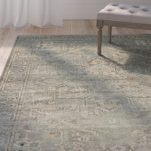 Meline Wool Gray Area Rug by Lark Manor