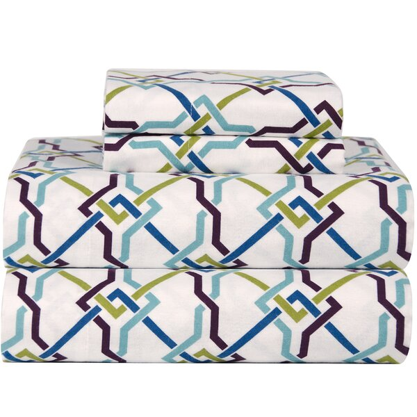 Celeste Home Ultra Soft Flannel Lattice Cotton Sheet Set by Celeste Home