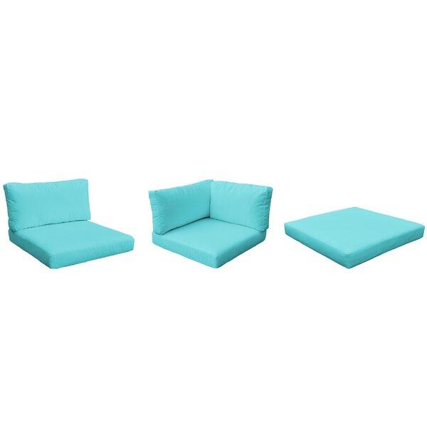 Monaco Outdoor 14 Piece Lounge Chair Cushion Set by TK Classics TK Classics