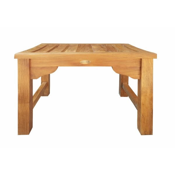 Ingrid Backless Teak Picnic Bench by Bay Isle Home