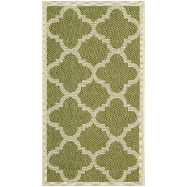 Herefordshire Green Indoor/Outdoor Area Rug by Winston Porter